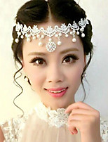 cheap -Women's Hair Jewelry For Wedding Wedding Geometrical Pearl Alloy White 1 pc