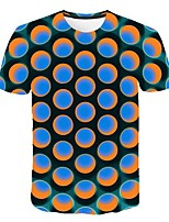 cheap -Women's Daily Sports Basic / Street chic T-shirt - 3D Print Blue