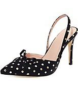 cheap -Women's Heels Stiletto Heel Pointed Toe PU Business / British Summer Black / Blue / Beige / Party & Evening