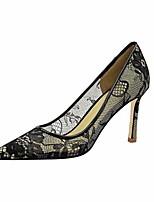cheap -Women's Heels Mesh Stiletto Heel Pointed Toe Mesh Casual / Minimalism Spring / Summer Black / Silver / Daily / 3-4