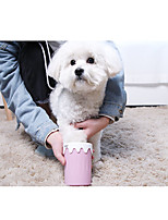 cheap -Dog Cat Cleaning Other Leather Type Dog Clean Supply Portable Pet Grooming Supplies Yellow Pink Blue 2-Dozen