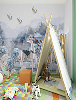 cheap -Custom self-adhesive mural wallpaper animal children cartoon style suitable for bedroom children's room school party Art Deco / Cartoon  Modern Wall Covering  Mural / Wall Cloth Room Wallcovering