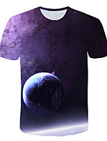 cheap -Kids Boys' Basic Street chic Geometric Color Block 3D Print Short Sleeve Tee Purple