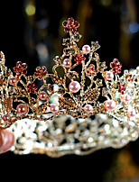 cheap -Women's Tiaras For Wedding Party Evening Prom Festival Byzantine Alloy Blushing Pink 1pc