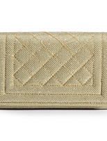 cheap -Women's Chain Polyester Evening Bag Solid Color Champagne / Gold / Silver