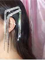 cheap -Women's Hair Claws For Party / Evening Masquerade Street Party & Evening Rhinestone Silver Plated Alloy White  / Silver Silver 1pcs