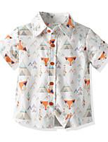 cheap -Toddler Boys' Basic Fox Short Sleeve Shirt White