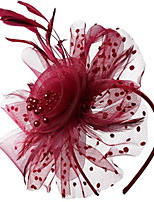 cheap -Feathers Hats with Hollow-out / Polka Dot 1 Piece Daily Wear Headpiece