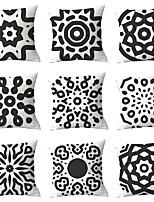cheap -9 pcs Throw Pillow Simple Classic 45*45 cm Cushion Vintage Circle Cover Sofa Home Decor Throw Pillow Case