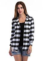 cheap -Women's Blazer Notch Lapel Polyester Red / Black