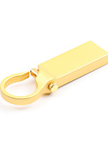 cheap -LITBest Round Button Gold Metal Keychain 128GB Flash Drives USB 2.0 Creative For Car