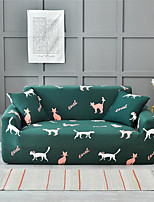 cheap -Green Pet Cat Print Dustproof All-powerful Slipcovers Stretch Sofa Cover Super Soft Fabric Couch Cover with One Free Pillow Case