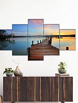 cheap -AMJ Hot Selling Pier Landscape Pentathlon Living Room Sofa Background Wall Decoration Canvas Picture Frameless Core