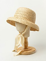 cheap -Straw Hats with Rattan 1 Piece Outdoor / To-Go Headpiece