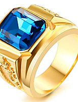 cheap -Men's Ring Synthetic Sapphire 1pc Gold Platinum Plated Alloy Stylish Daily Jewelry Cute