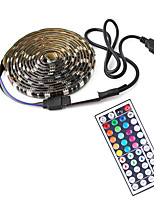 cheap -1m TV Background Light Strip Flexible LED Light Strips  RGB Strip Lights 30 LEDs SMD5050 10mm 1 44Keys Remote Controller 1 set Multi Color Waterproof  USB  Self-adhesive 5 V