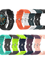 cheap -Watch Band for Huawei Watch GT / Huawei Watch GT Active / Huawei Watch GT2 46mm Huawei Classic Buckle Silicone Wrist Strap