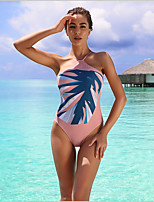 cheap -Women's White Blushing Pink Beige Bikini Swimwear Swimsuit - Floral S M L White