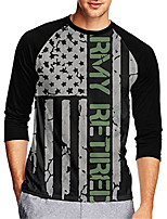 cheap -21Grams Men's Long Sleeve Cycling Jersey Downhill Jersey Dirt Bike Jersey 100% Polyester Green / Black Stripes American / USA National Flag Bike Jersey Top Mountain Bike MTB Road Bike Cycling UV