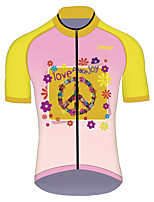 cheap -21Grams Men's Women's Short Sleeve Cycling Jersey 100% Polyester Pink Funny Bike Jersey Top Mountain Bike MTB Road Bike Cycling UV Resistant Breathable Quick Dry Sports Clothing Apparel / Stretchy