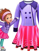 cheap -Fancy Nancy Dress Cosplay Costume Girls' Movie Cosplay Cosplay Costume Party Purple Dress Polyster