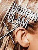 cheap -Women's Hairpins For Party / Evening Masquerade Street Party & Evening X Rhinestone Silver Plated Alloy 1pcs