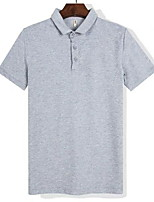 cheap -Men's Daily Polo - Solid Colored Black
