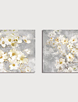 cheap -Print Canvas Painting Still Life Whtie Flowers set of 2 pcs Modern Art Prints Stretched