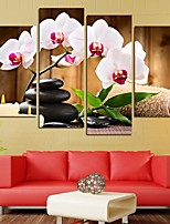 cheap -4 Panels Modern Canvas Prints Painting Home Decor Artwork Pictures DecorPrint Rolled  Stretched  Modern Art Prints Floral