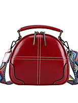 cheap -Women's Zipper PU Top Handle Bag Solid Color Red / Brown / Black