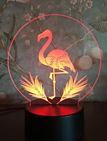 cheap -New And Strange 3D Night Light Touch Colorful Flame Bird Pattern Birthday Gift Personalized LED Table Lamp