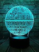 cheap -Big Movie Star Wars 3D LED Light USB Astro Cartoon Death Star Colorful Bulb Ball Atmosphere Lava Night Light Lighting Gift
