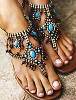 cheap -Women's Sandals Boho Flat Heel Round Toe PU Summer Blue
