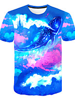 cheap -Kids Boys' Basic Street chic Color Block 3D Rainbow Print Short Sleeve Tee Rainbow
