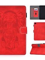 cheap -Case For Apple iPad Mini 3/2/1 / iPad Mini 4 / iPad Mini 5 Card Holder / Embossed / Pattern Full Body Cases Solid Colored / Animal PU Leather