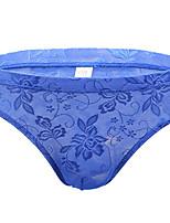 cheap -Men's Lace Briefs Underwear - Normal Low Waist Black White Purple M L XL