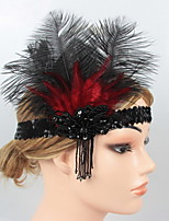 cheap -Dance Accessories 1920s / The Great Gatsby Women's Cotton / nylon with a hint of stretch / Feather / Fur Feather Vintage / Costume & Disguise