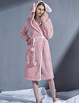 cheap -Adults' Kigurumi Pajamas Bathrobe Nightgown Rabbit Bunny Onesie Pajamas Flannelette Pink / Light Blue Cosplay For Men and Women Animal Sleepwear Cartoon Festival / Holiday Costumes