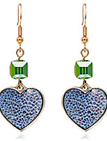 cheap -Women's Crystal Drop Earrings Classic Heart Sweet Earrings Jewelry Blue For Wedding Party Daily 1 Pair