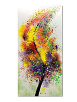 cheap -Hand-Painted Lucky Colorful Tree Oil Paintings Wall Art Abstract Painting Contemporary Artwork for Home Decor Ready to Hang