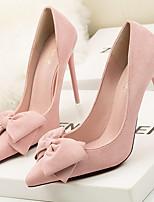 cheap -Women's Heels Stiletto Heel Pointed Toe PU Spring & Summer Black / Fuchsia / Yellow