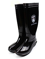 cheap -Women's Boots Flat Heel Round Toe PVC Mid-Calf Boots Spring & Summer / Fall & Winter Black