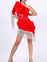 cheap -Latin Dance Dresses Women's Performance Polyester Beading / Tassel Dress