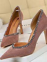 cheap -Women's Heels Stiletto Heel Pointed Toe PU Spring & Summer Black / Purple / Red