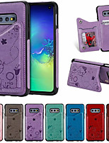cheap -Case For Samsung Galaxy S10e Card Holder / Shockproof / Pattern Back Cover Cartoon PU Leather