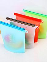 cheap -4pcs Kitchen Reusable Silicone Bag Food Storage Bags Food Preservation Bags Seal Freeze Fridge Food Storage Savers Bags