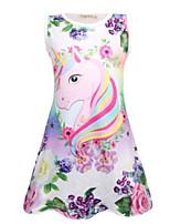 cheap -Kids Girls' Basic Butterfly Cartoon Print Sleeveless Knee-length Dress Purple