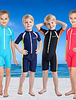 cheap -Boys' Girls' Rash Guard Dive Skin Suit Elastane Swimwear UV Sun Protection Breathable Quick Dry Short Sleeve Front Zip - Swimming Water Sports Patchwork Summer / High Elasticity / Kid's