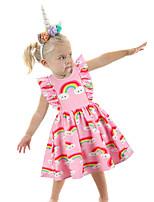 cheap -Princess Unicorn Dress Girls' Movie Cosplay Cosplay Purple / Blue / Pink Dress Halloween Carnival Masquerade Polyester