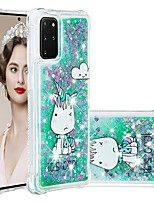 cheap -Case For Samsung Galaxy Samsung Galaxy A50s / Samsung Galaxy A30s / Samsung Galaxy A10s Shockproof / Flowing Liquid / Transparent Back Cover Glitter Shine TPU